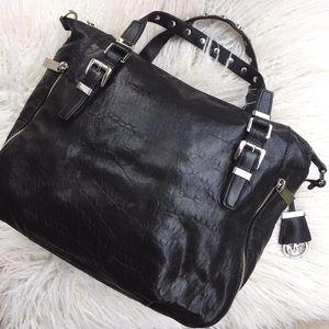 Michael Kors Black Leather /Bag Studded NEW